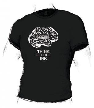 "Shirt boys ""THINK BEFORE INK"""